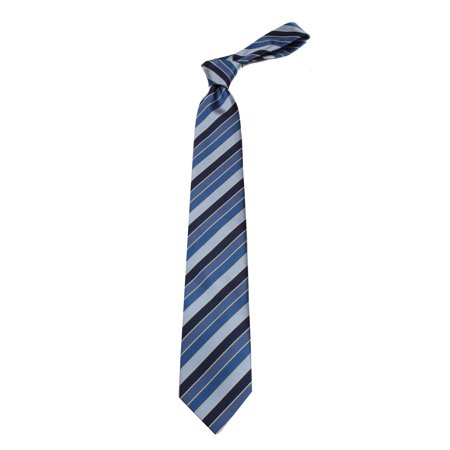 Mens Navy Stripe Designer Fashion Necktie