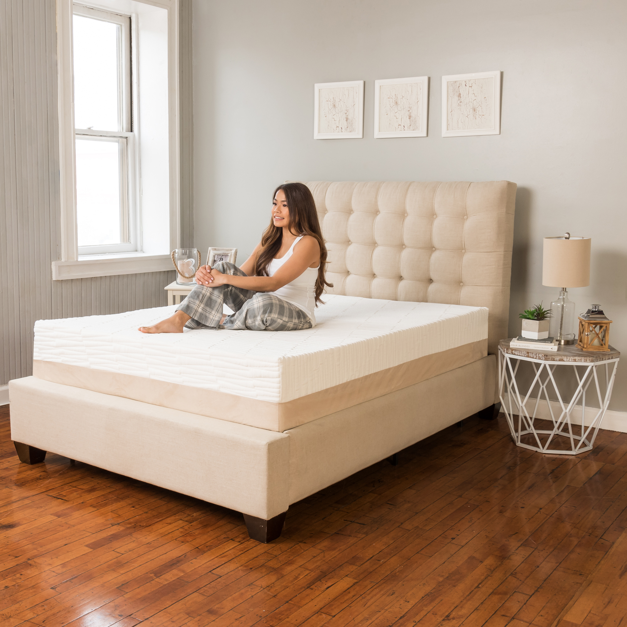 Modern Sleep Natural Sleep Kiera Talalay Latex Memory Foam 11-Inch Mattress, Multiple Sizes - Walmart.com