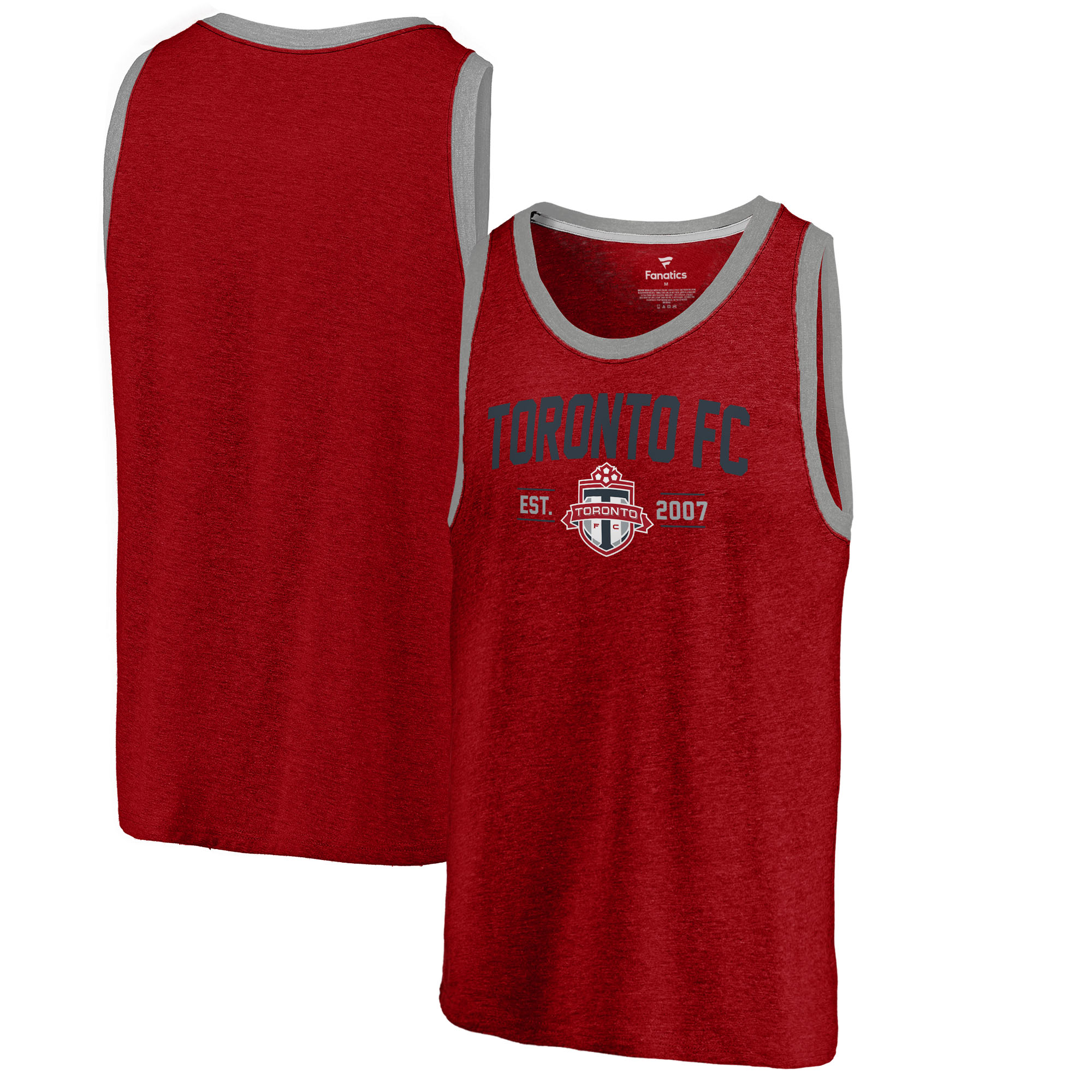 Toronto FC Fanatics Branded Tri-Blend Tank Top - Red