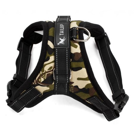Adjustable Dog Pet Vest Harness Quality Nylon Leash Safe Harness Walk Lead Camo Reflective Vest Harness