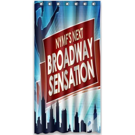 DEYOU The Musical Broadway New York Theme Shower Curtain Polyester Fabric Bathroom Size 36x72