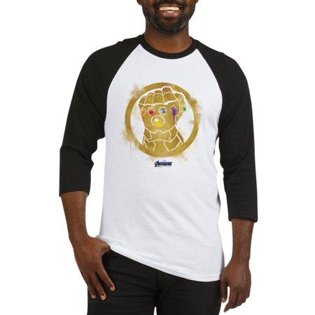 Infinity Jersey - CafePress - Gold Infinity Gauntlet - Cotton Baseball Jersey, 3/4 Raglan Sleeve Shirt