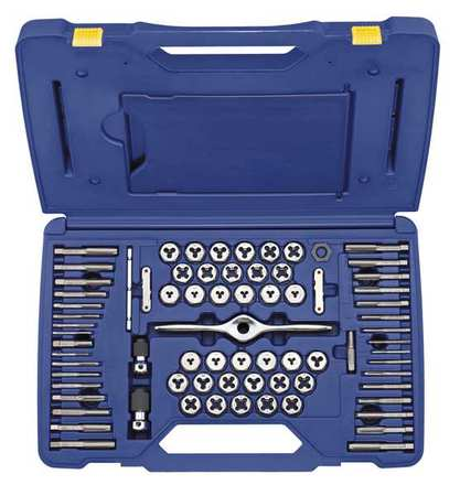 IRWIN HANSON 1813816 Tap and Die Set, 75 pc, Carbon