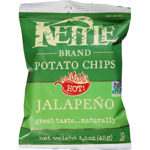 Kettle Brand Jalapeno Potato Chips, 1.5 oz, (Pack of 24)