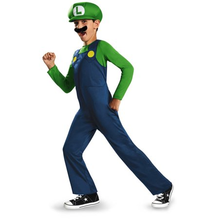 Super Mario Bros. Luigi Classic Child Halloween Costume](Mario And Luigi Halloween Costume)