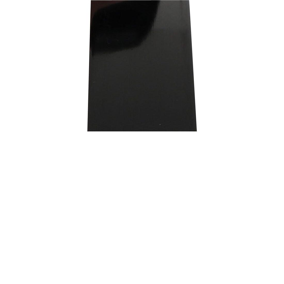 Unique Bargains 12mm Flat Width 1M Length PVC Heat Shrinkable Tube Black for Capacitive Battery - image 1 de 2