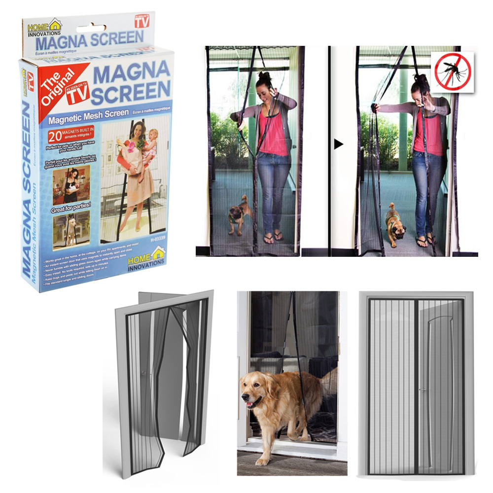 Mosquito nets walmart 1 pc magna screen door net protector hands free magnetic mesh bug anti mosquito vtopaller Image collections