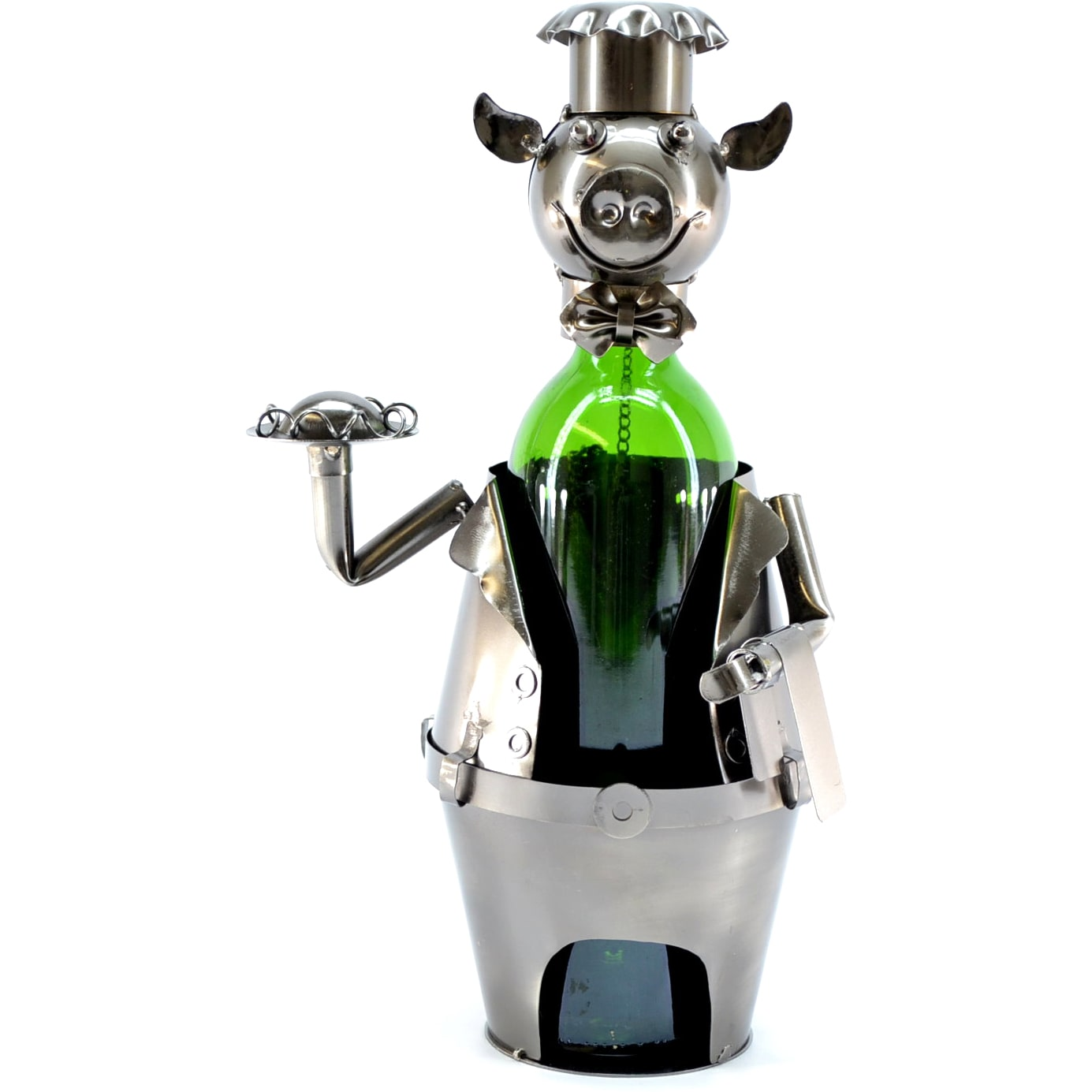 3starimex Wine Caddy Pig Waiter Wine Bottle Holder
