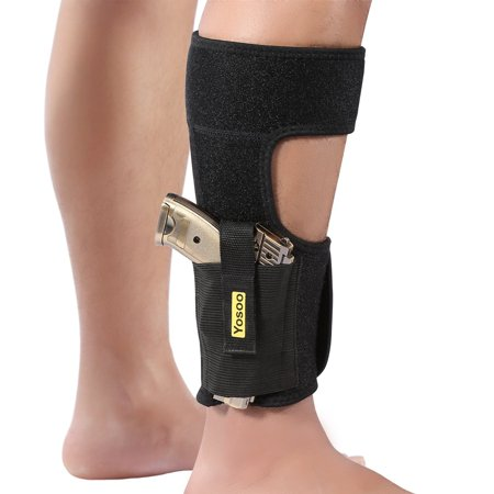 Adjustable Ankle Holster,Neoprene Elastic Wrap Concealed Ankle Carry Gun Holster with Magazine Pocket for Small Frame Pistol