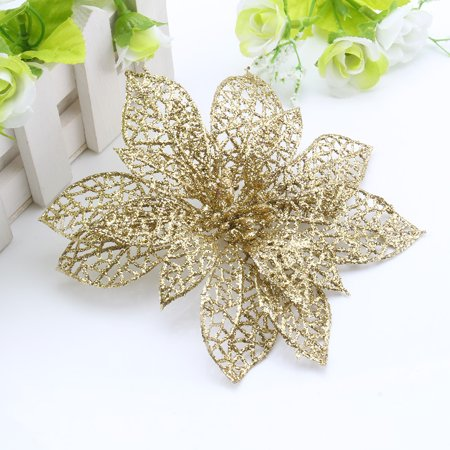 Tart Ornament (10pcs Christmas Hollow Flower Xmas Tree Ornaments Wedding Party Home Decoration)