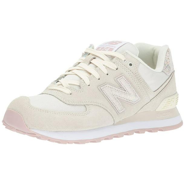 New Balance Women's 574V1 Shattered Pearl Sneaker, Angora/Faded Rose, 6.5 B US