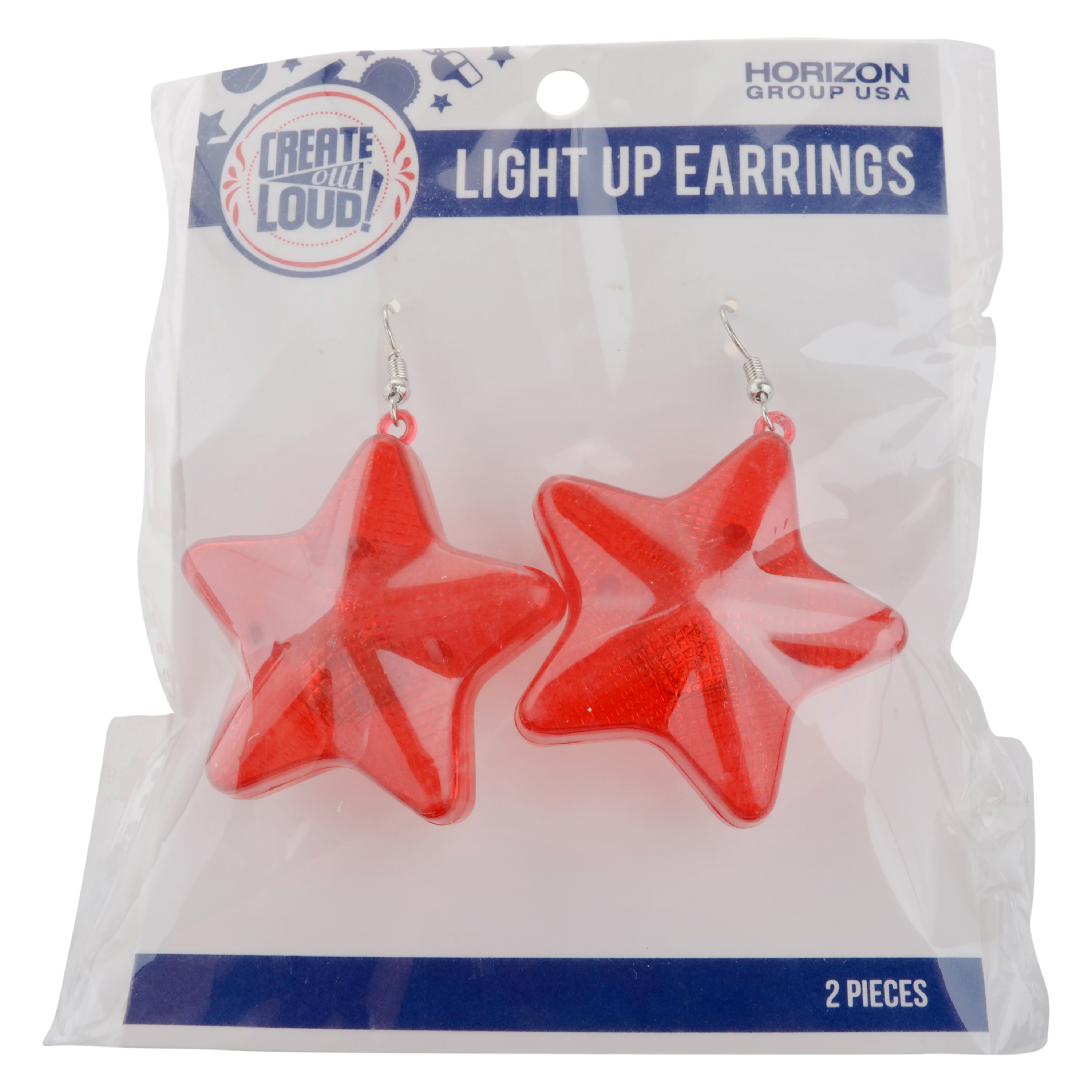 Create Out Loud Light Up Star Earrings by Horizon Group USA