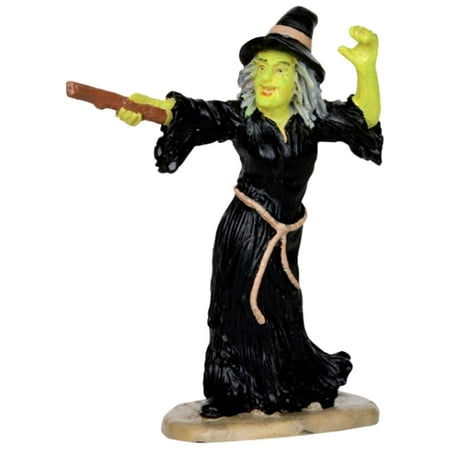 Lemax 32117 WITCH CASTS SPELL Spooky Town Figure Halloween Decor Figurine - Lemax Halloween Train