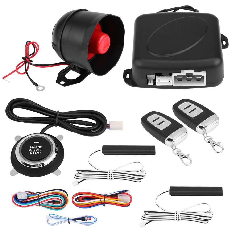 Qiilu Car Alarm Engine Push Stop Start Button Lock Starter Ignition Keyless Entry