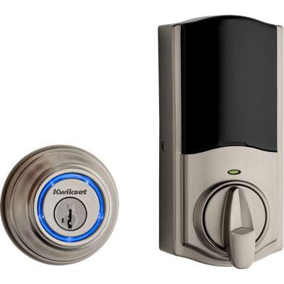 Kwikset 99250-202 Satin Nickel Kevo 2nd Gen Touch-To-Open Bluetooth Key & Electronic Smart