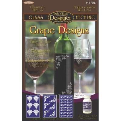Armour Etch Designer Stencil Pak Grape (Etch Designer Stencils)