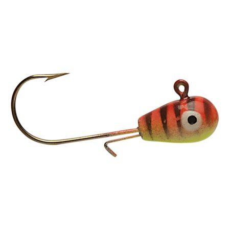 Custom Jig and Spinnings H20 Jig 3/16 Orange Tiger/Glow Eyes - 0740-5BLSC