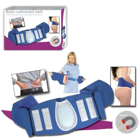 Magnetic Blue Lumbar Back Support Belt 16 Magnets Cushion Lower Back Pain Brace
