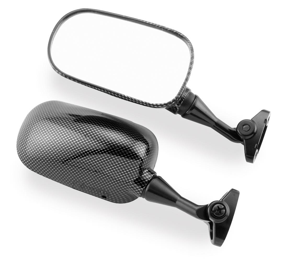 "BikeMaster Replacement Mirror Carbon Fiber ""LOOK"" Right Mirror FH-232-1 RH"