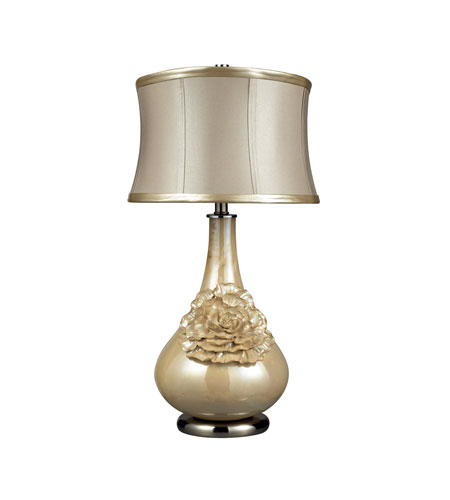 Table Lamps 1 Light With Pearlescent Cream Ceramic Medium Base 30 inch 150 Watts