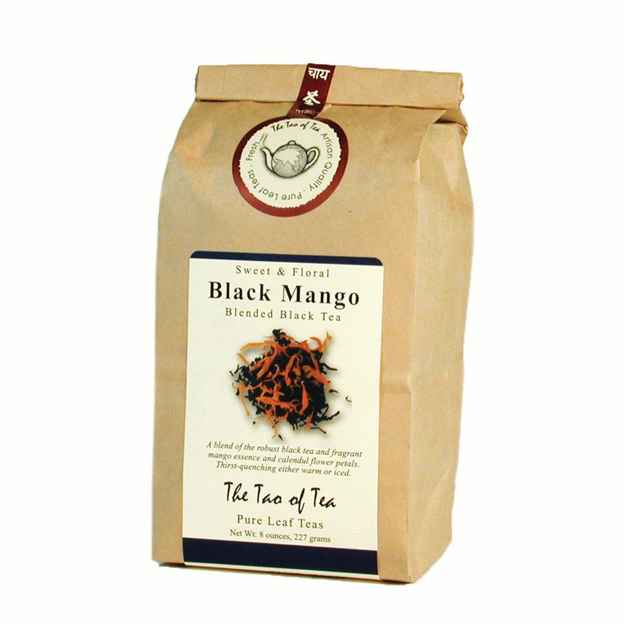 The Tao of Tea, Black Mango Tea, Loose Leaf Tea, 8 Oz Tin Tie Bag