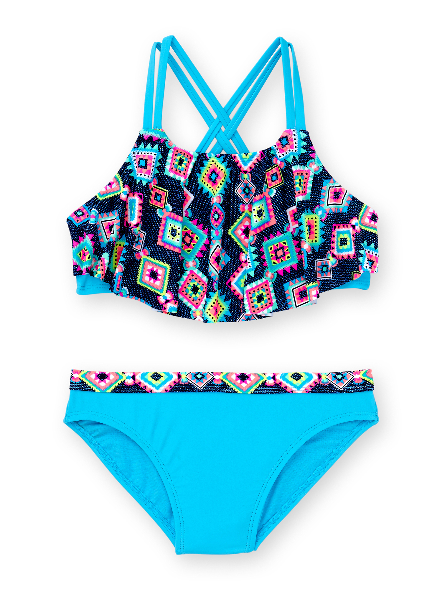 Girls' Phoenix Print Fashion Bikini