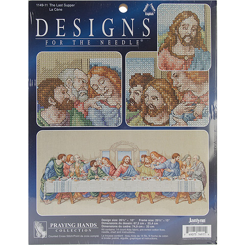 "The Last Supper Counted Cross Stitch Kit, 26-1/2"" x 10"", 14-count"