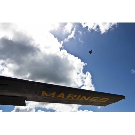 Laminated Poster A U S  Air Force F 22 Raptor Fighter Jet Flies Above The Wing Of Fat Albert Airlines  The Blue Ang Poster Print 24 X 36