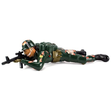 Toy Armor (Crawling Action Corp Army Soldier, Battery Operated Toy Action Figure w/ Realistic Crawling Action, Lights, Sounds (Colors May)