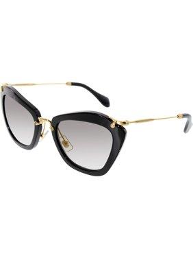 bb404253930c Product Image Women s Gradient MU10NS-1AB3M1-55 Black Butterfly Sunglasses. Miu  Miu