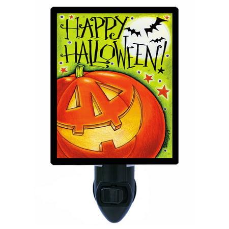 Night Light - Photo Light - Big Pumpkin - Happy Halloween Bats (Bts Halloween Photos)