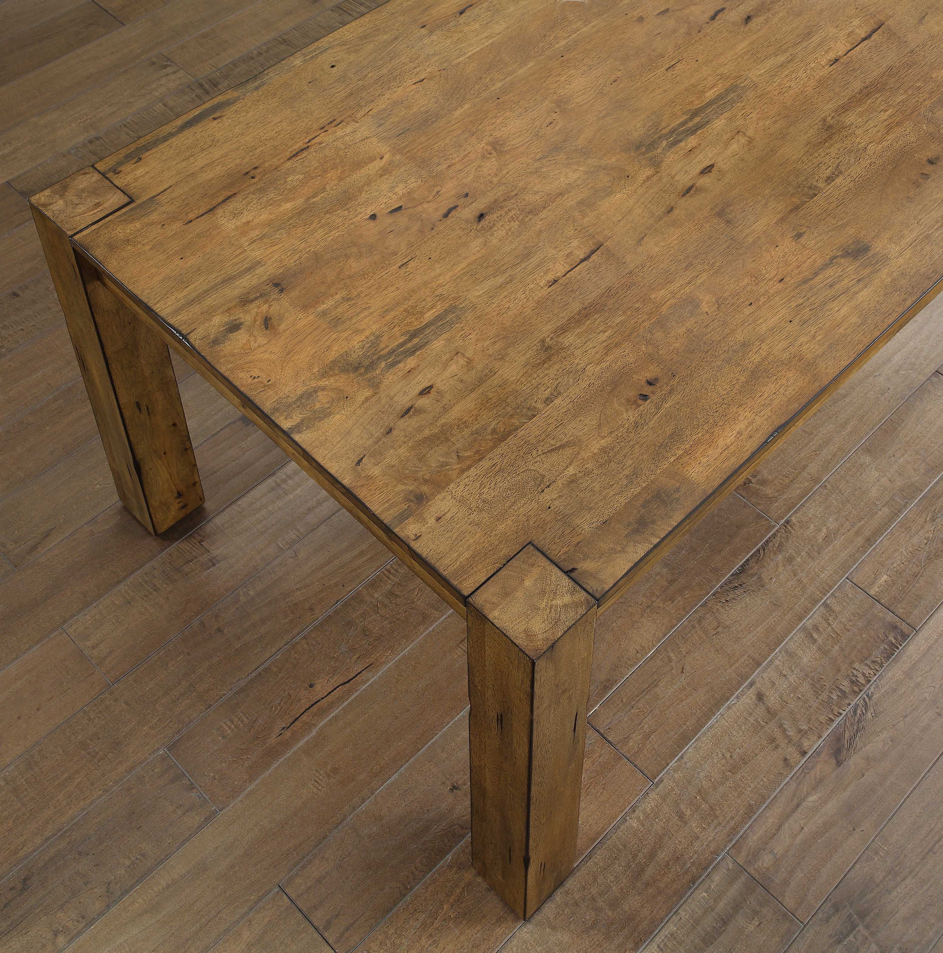 Better Homes & Gardens Bryant Dining Table Rustic Brown - Walmart.com