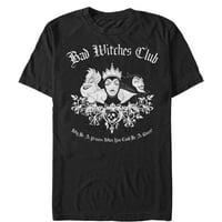 "Men's Disney Princess ""Bad Witches Club"" Short Sleeve Graphic Tee (Print On Demand)"