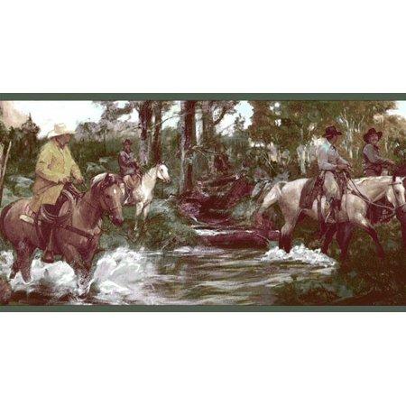 878566 Cowboy Western Horses Wallpaper Border