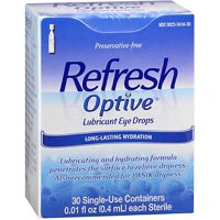 Refresh Optive Lubricant Eye Drops Long-Lasting Hydration Single Use Containers 30 ea