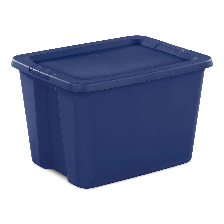 Sterilite 18 Gal. Tote Box Stadium Blue