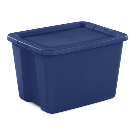 Sterilite 18 Gal. Tote Box Stadium Blue