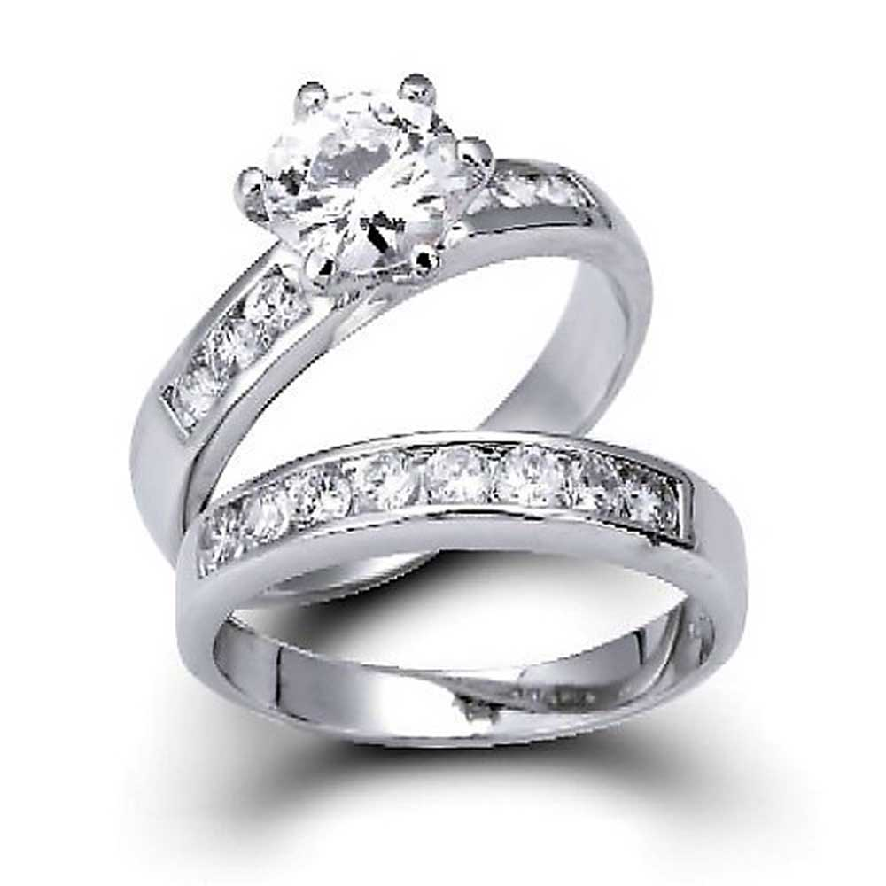 bling jewelry silver vintage style cz engagement wedding