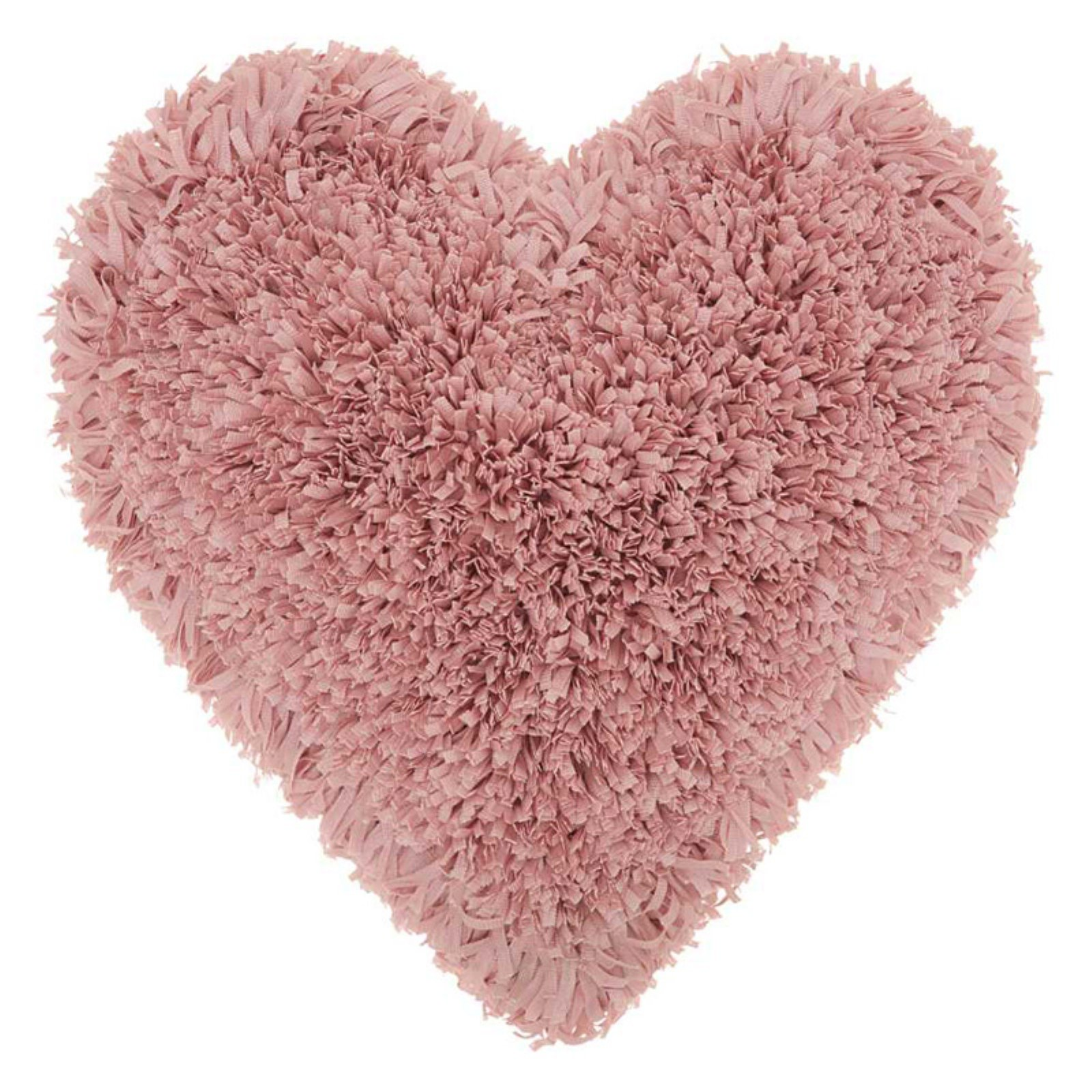 Nourison Frame Heart Rose Shag Throw Pillow