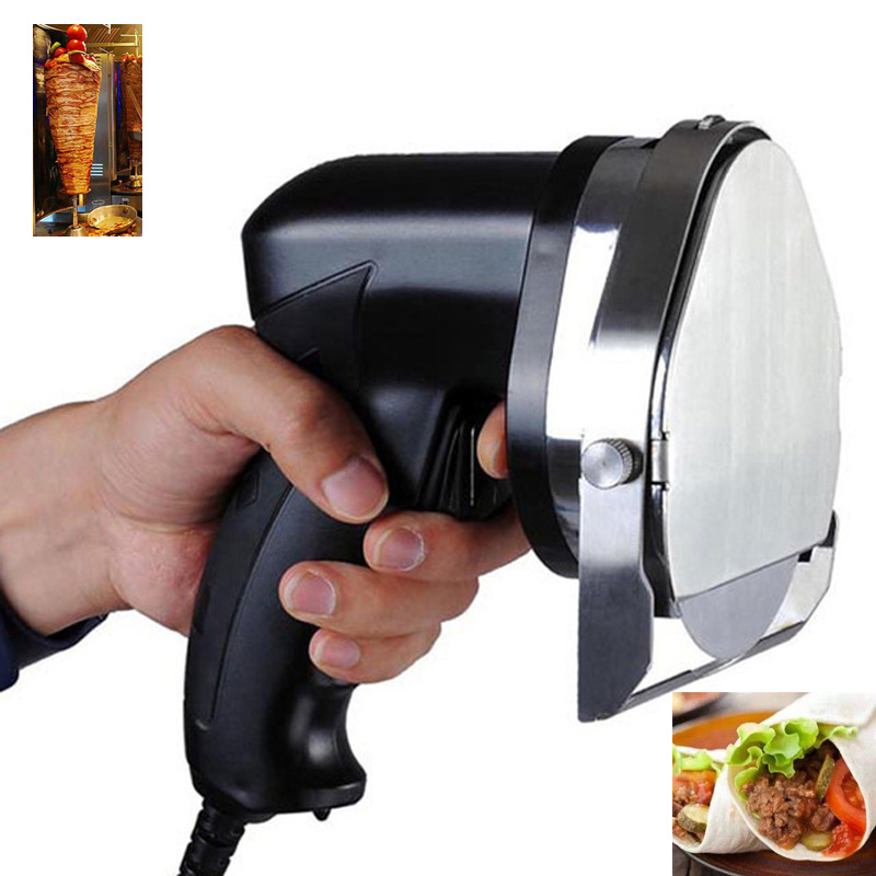 Professional Electric Shawarma Doner Kebab Knife Slicer Gyros Knife Cutter 110v