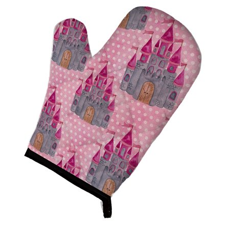 Caroline's Treasures Watercolor Princess Castle Oven Mitt
