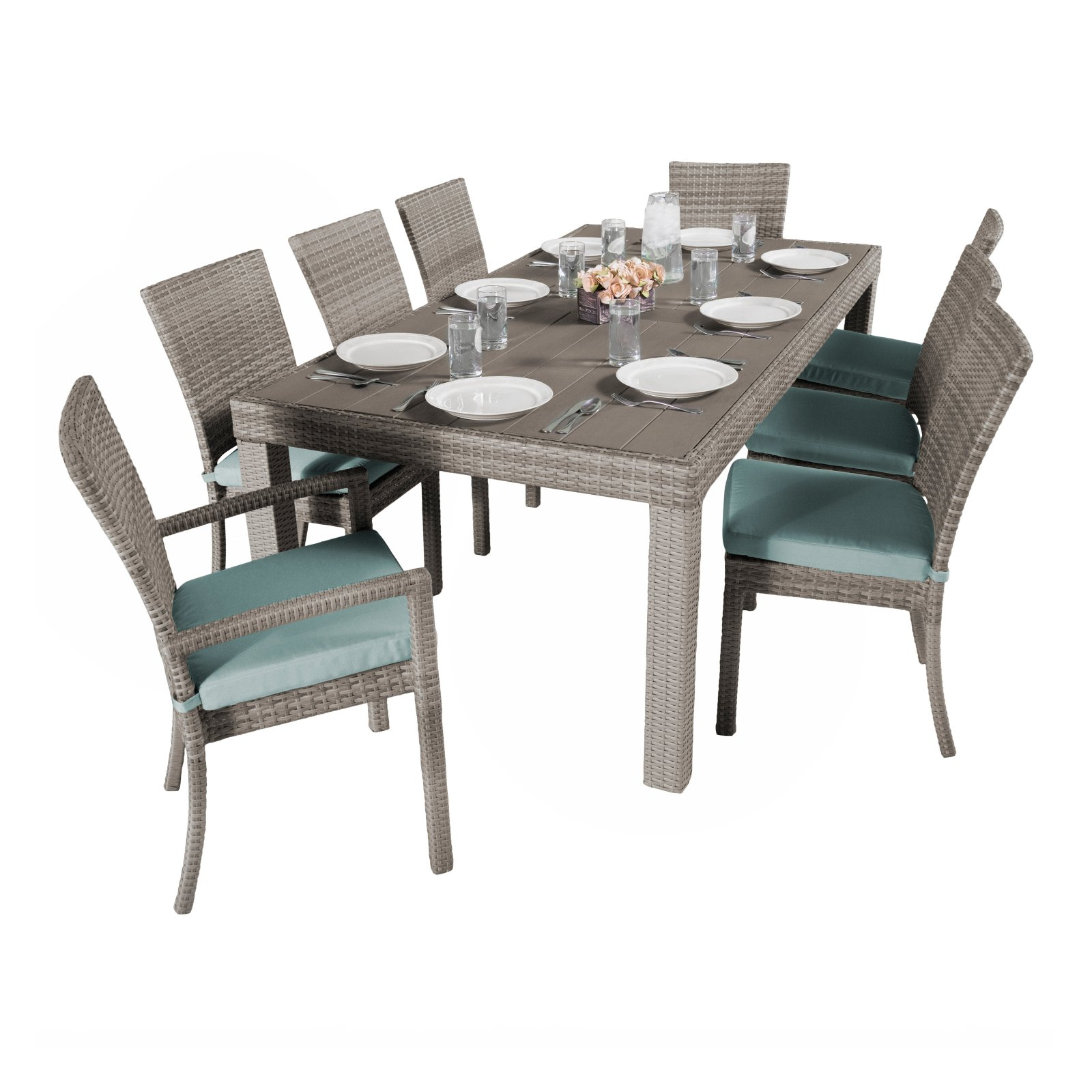RST Brands Cannes 9 Piece Patio Dining Set