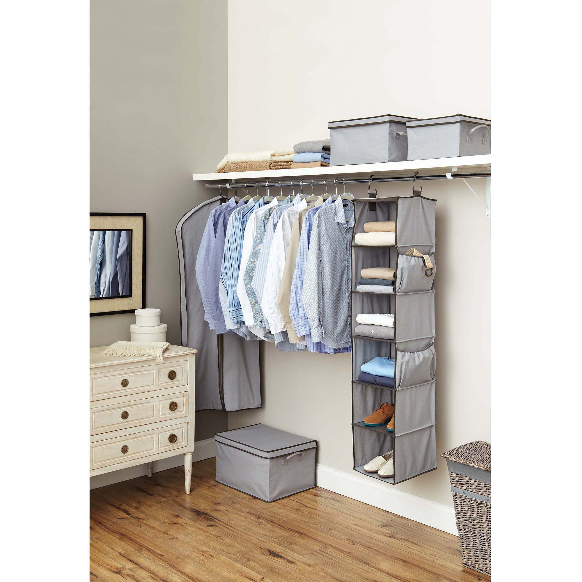 Better Homes and Gardens 6-Shelf Organizer, Grey