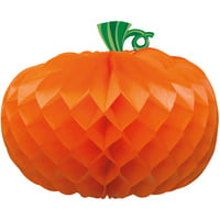 Pumpkin Halloween Centerpiece Decoration, Orange, 10.75in