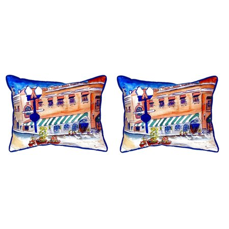 Pair Of Betsy Drake Canal Street Large Indoor Outdoor Pillows 16