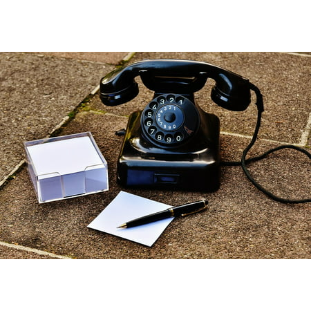 Canvas Print Year Built 1955 Phone Post Dial Old Bakelite Stretched Canvas 10 x (Best Phone For 14 Year Old)