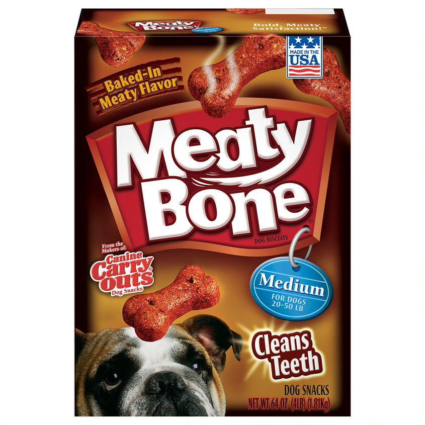 Meaty Bone Medium Dog Snacks, 64-Ounce