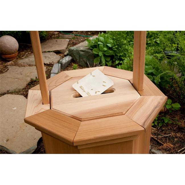 All Things Cedar WWC60 Wishing Well with Slotted Gift Lid