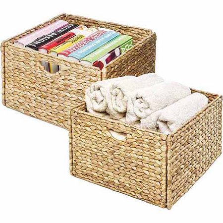 Seville Classics Hyacinth Storage Cube Basket, 2pk, WEB168