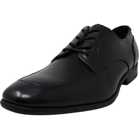Calvin Klein Men's Lazarus Dress Calf Black Ankle-High Leather Oxford - 9.5M